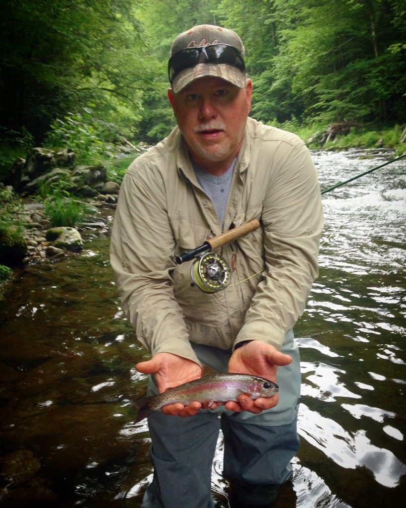 2016 Year in review rainbow trout for Robert Hall on Little River