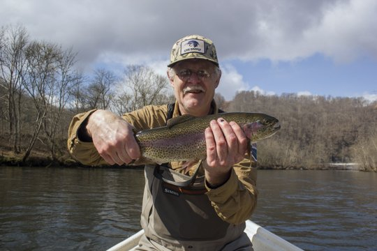 Roger's big Caney Fork rainbow trout during spring fishing