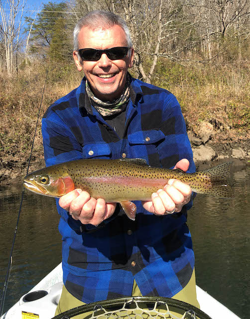 Scott with a fine Clinch River rainbow