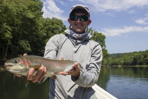 "A 20"" Caney Fork rainbow trout for Jayson in our photo gallery"