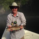 A nice Caney Fork River rainbow trout for Shannon