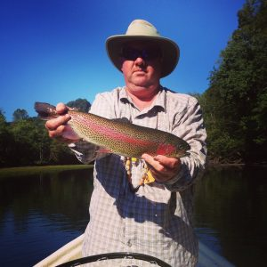 A big Caney Fork River rainbow trout for Shannon