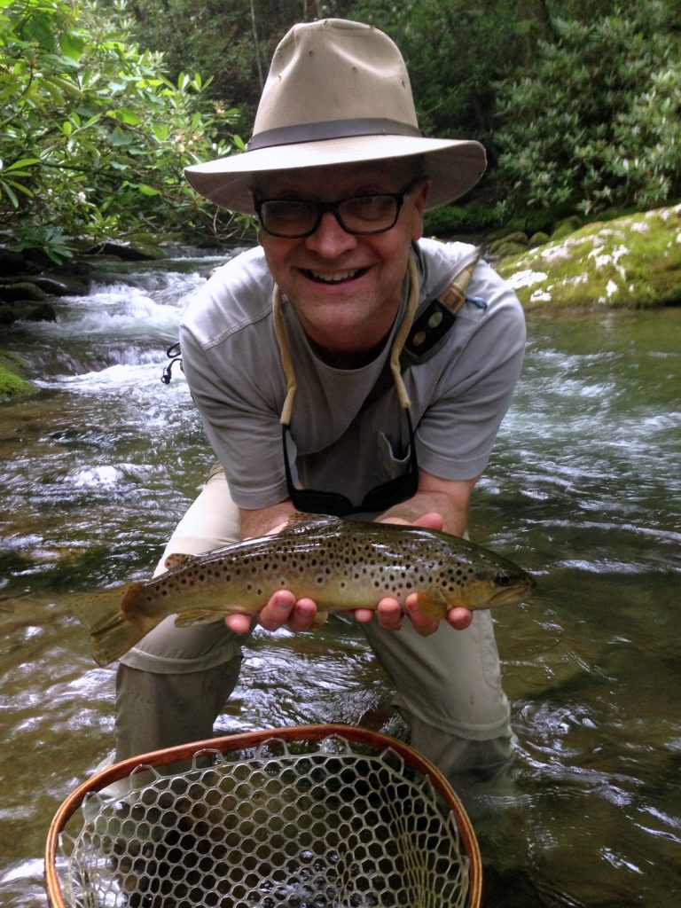2016 Year in Review Jay Warrick with a great brown trout in the Smokies