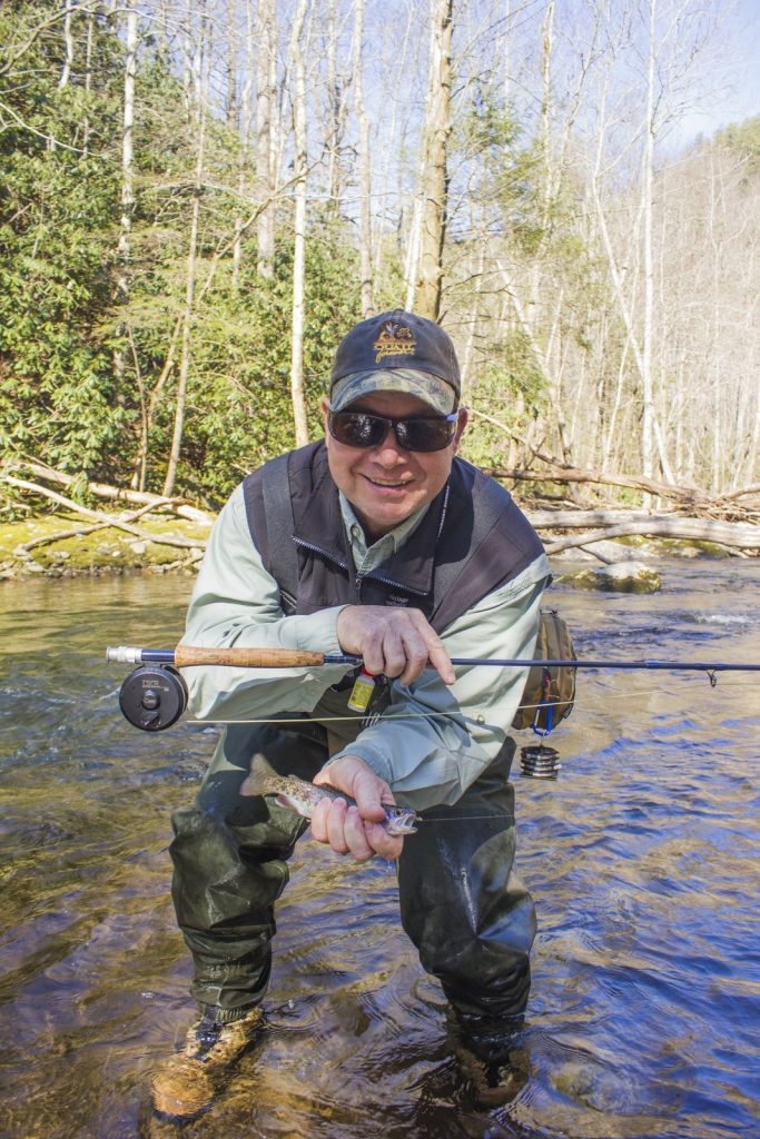 2016 Year in Review with a nice rainbow trout on Little River for Paul