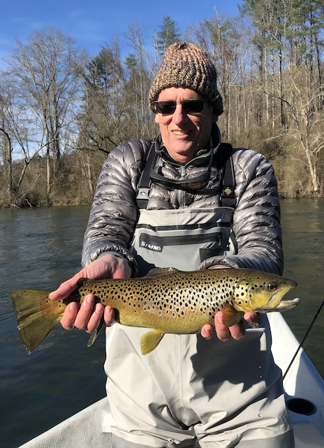 Clinch River brown trout for Charlie in December.